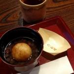 近江八幡名物「つぶら餅」と「あずき茶」