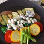 15分おかず「焼き野菜に豆ドレ」