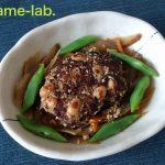 「蒸し大豆」の煮込みハンバーグ2種