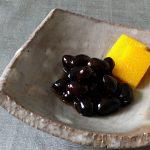 お正月の黒豆と「あわ羊羹」