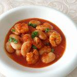 自主トレ「海老と白いお豆のトマト煮込み」