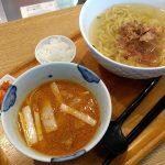 らーめん大文字「釜あげ辛味噌つけ麺」と桜もち