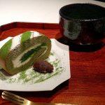 小山園 元庵のロールケーキとお濃茶